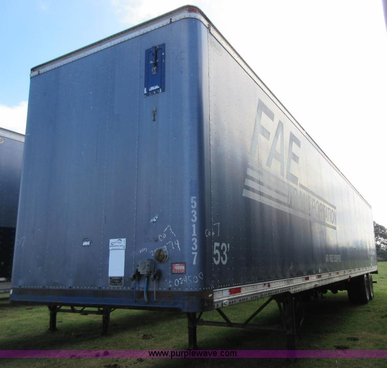 No Reserve Auction On Tuesday May 07: 1997 Dorsey AIDT-LS Dry Van Trailer
