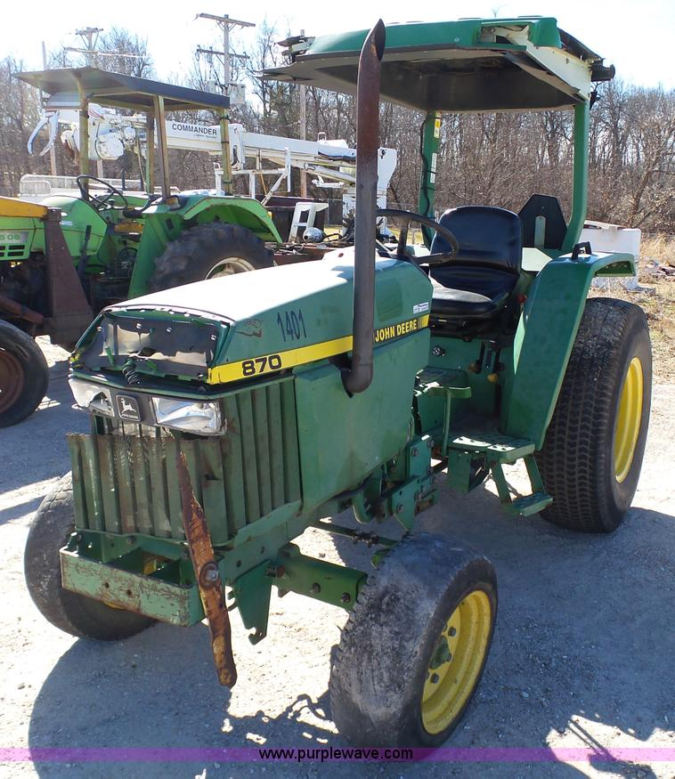 John Deere 870 Tractor Seat : John deere tractor no reserve auction on