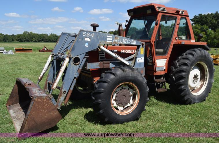Fiat Hesston Tractors Farm : Ag equipment auction in burrton kansas by purple wave
