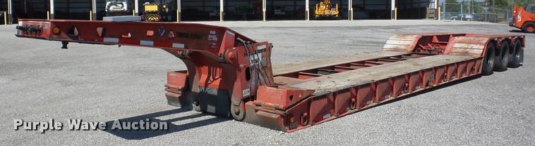 2000 Trail King TX100HDG-463 lowboy equipment trailer
