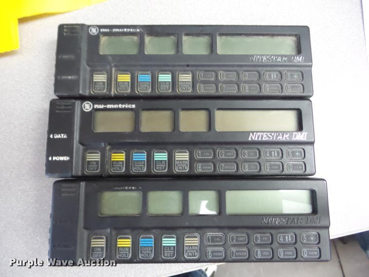 (3) DMI Nu-Meterics Nitestar pieces of surveying equipment