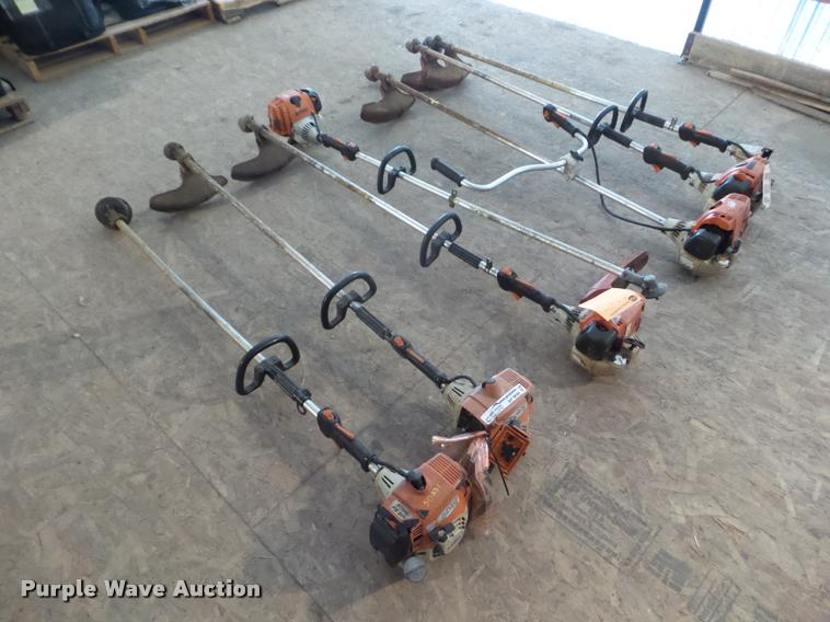 (7) Stihl string trimmers