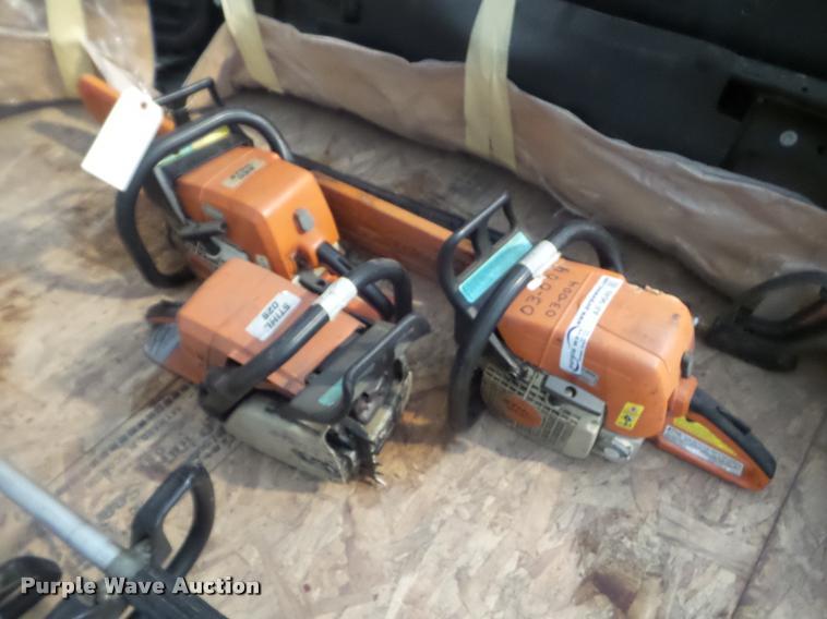 (3) Stihl chain saws