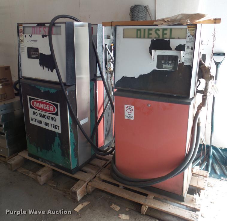 (3) fuel island pumps