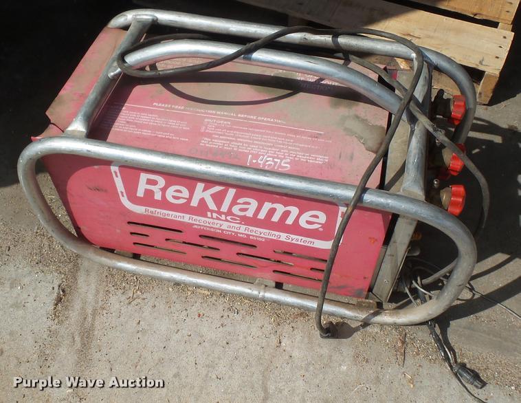 1992 Rekle PRRV100 refrigerant recycler