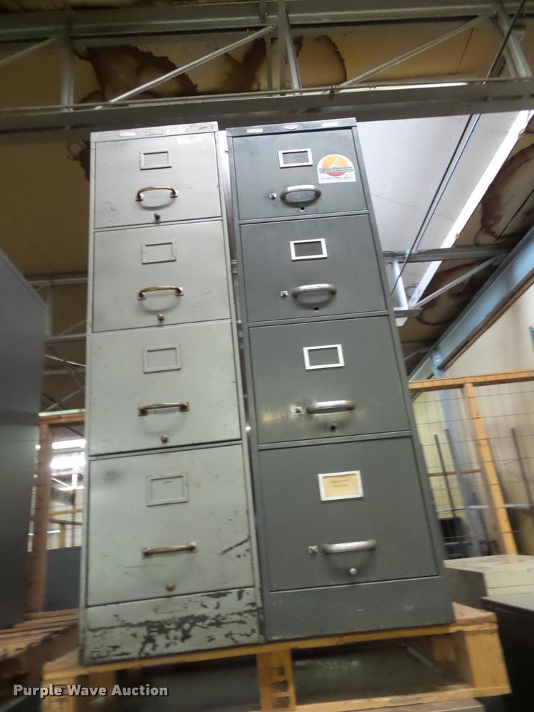 (5) four drawer file cabinets