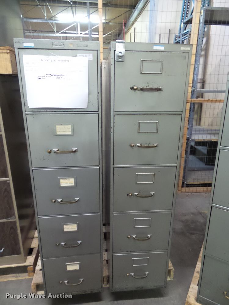 (4) five drawer file cabinets