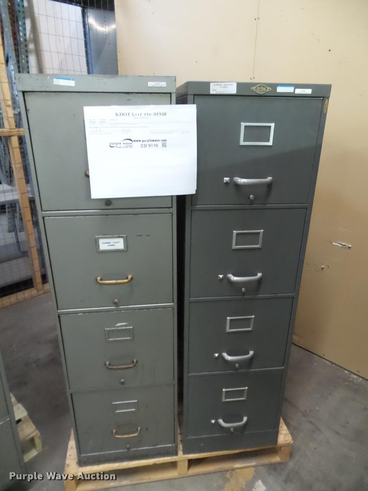 (3) four drawer file cabinets