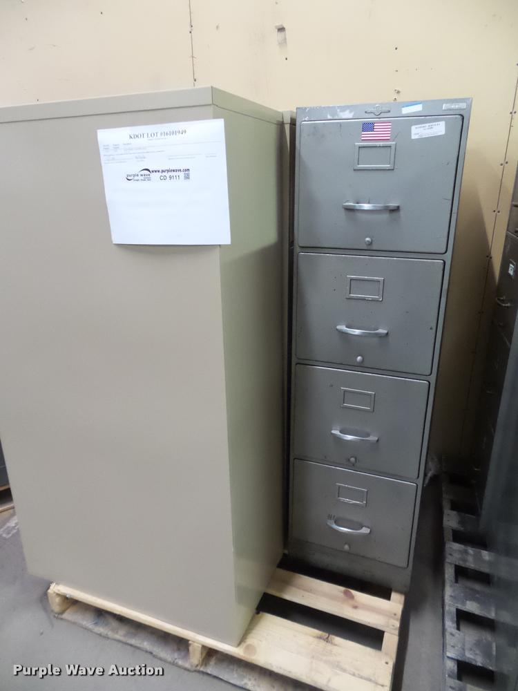 (4) four drawer file cabinets