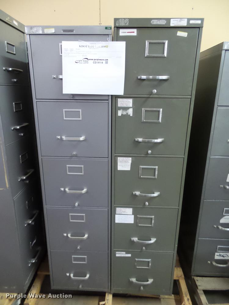 (3) five drawer file cabinets