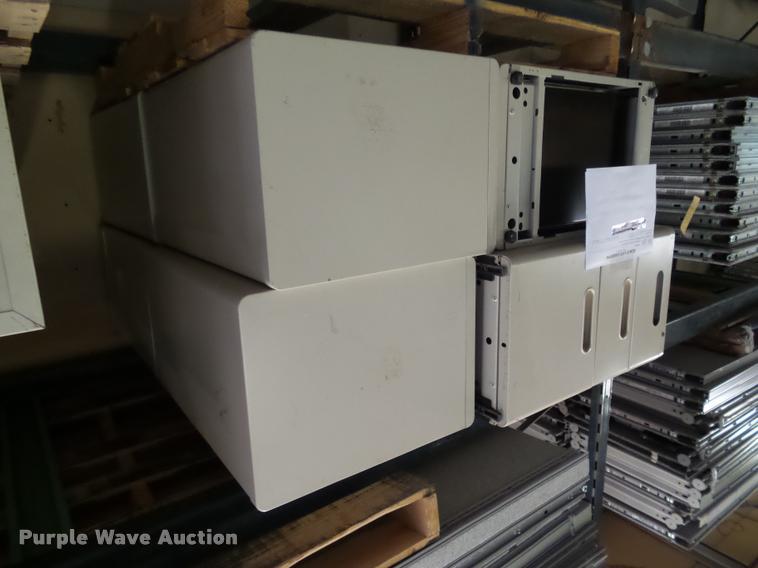 (8) Herman Miller three drawer file cabinets