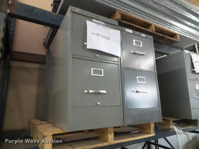 (4) two drawer file cabinets