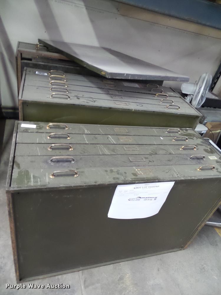 (3) plan file cabinets