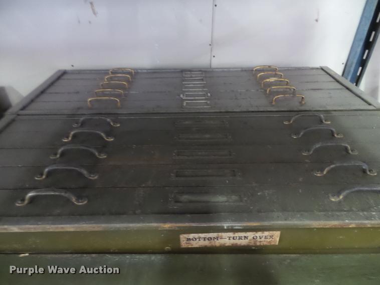 (2) five drawer plan file cabinet