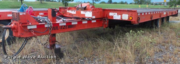 2004 Trail Eze TE40T28 tilt deck equipment trailer