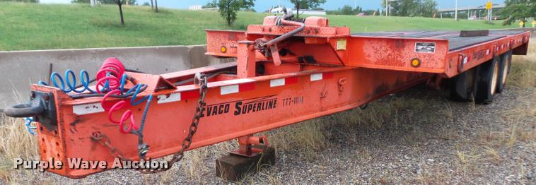 2002 Evaco Superline D012T242T tilt deck equipment trailer