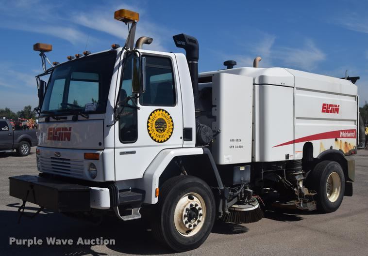 2005 Sterling SC8000 street sweeper truck with Elgin Whirlwind Series MV sweeper