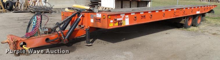 1998 Landoll tilt deck equipment trailer