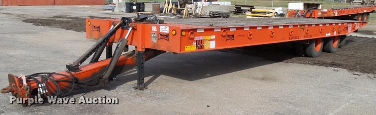 1997 Landoll tilt deck equipment trailer