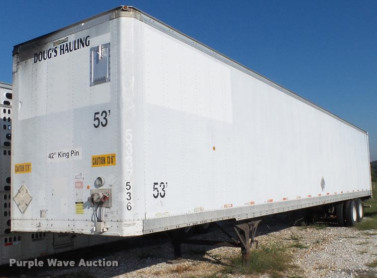 1998 Stoughton AVW-533T-S-C-AR dry van trailer