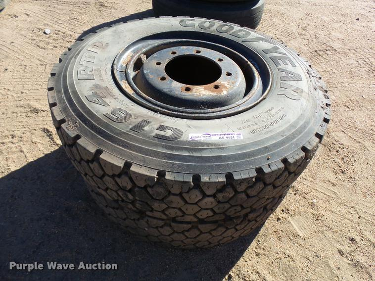 (2) 10.00R20 tires and wheels