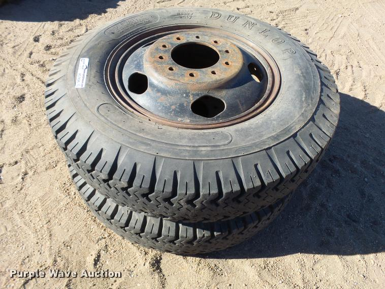 (2) 8.25-20 tires and wheels