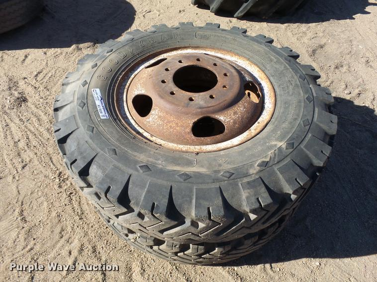 (2) 9.00-20 tires and wheels