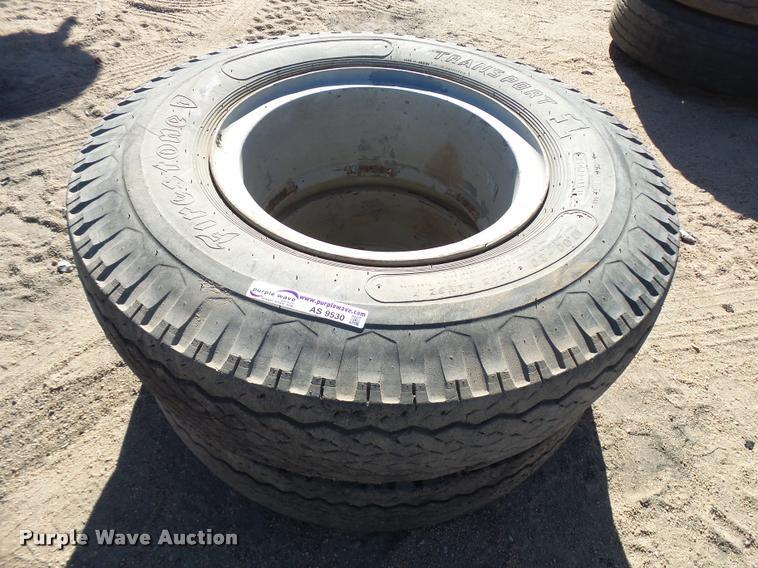 (2) 10.00-20 dual tires