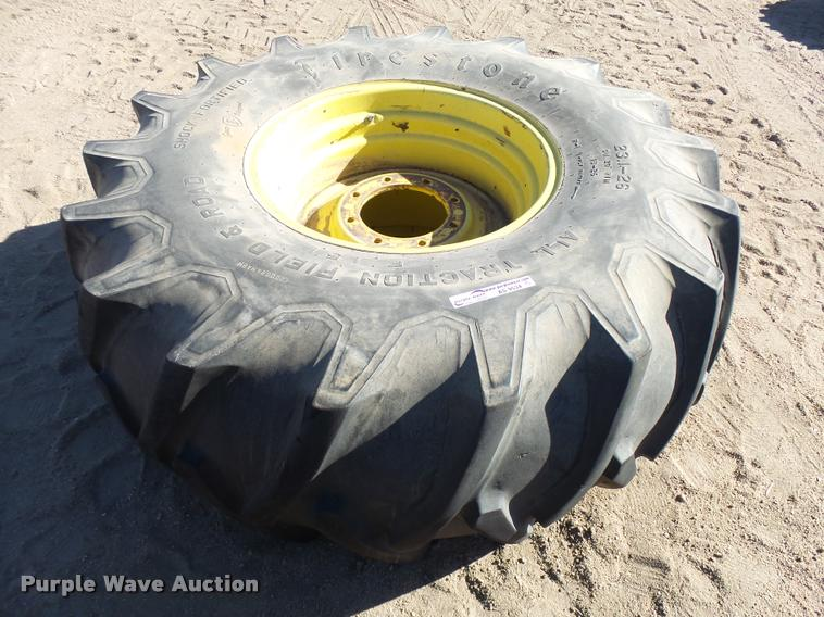 Firestone 23.1-26 tire and wheel