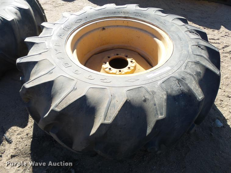 Goodyear 18.4-26 tire and wheel