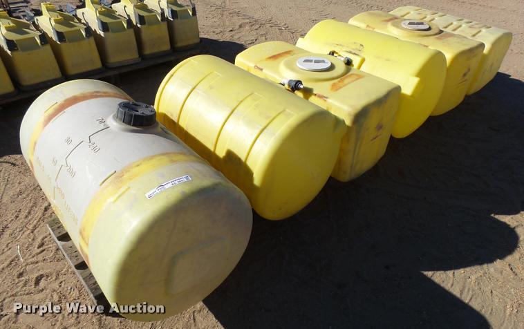 (6) plastic tanks