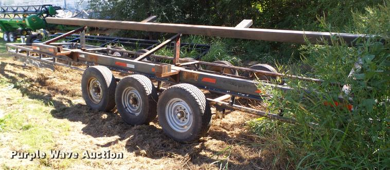 Shop built header trailer