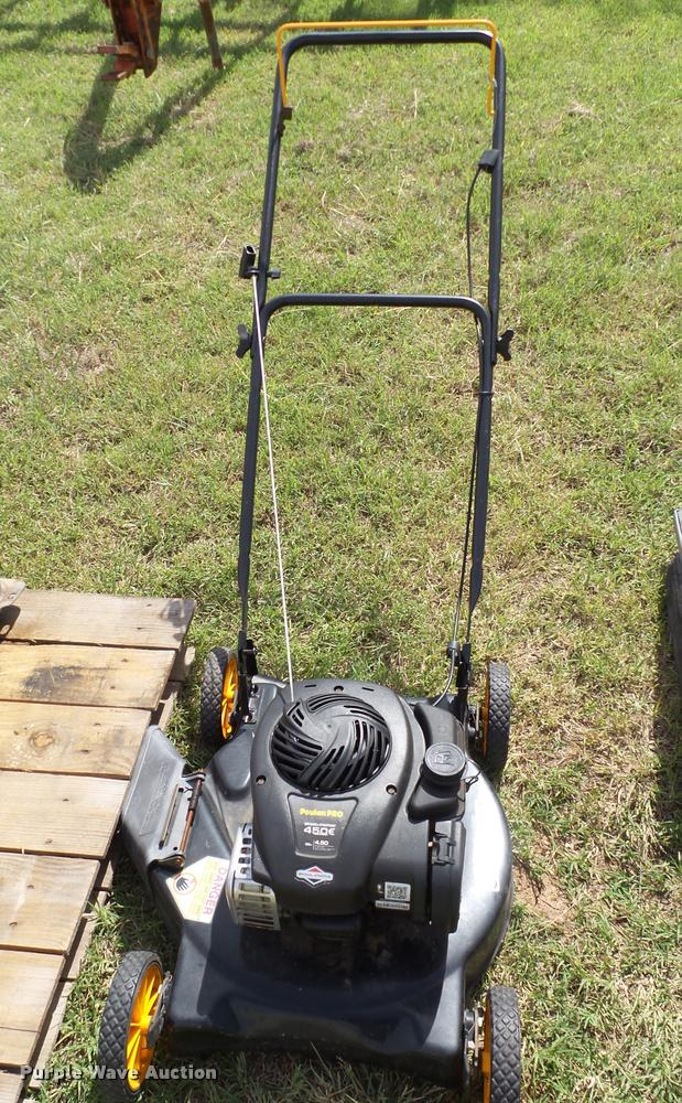 Poulan Pro 450E push mower
