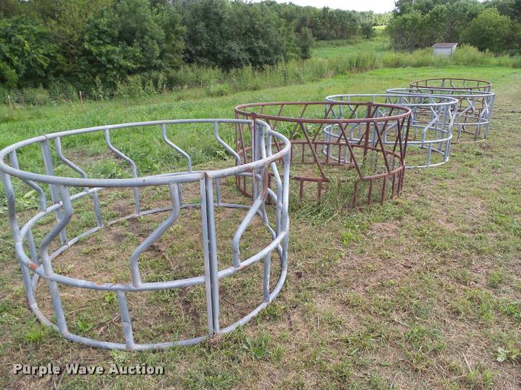 (5) round bale feeders
