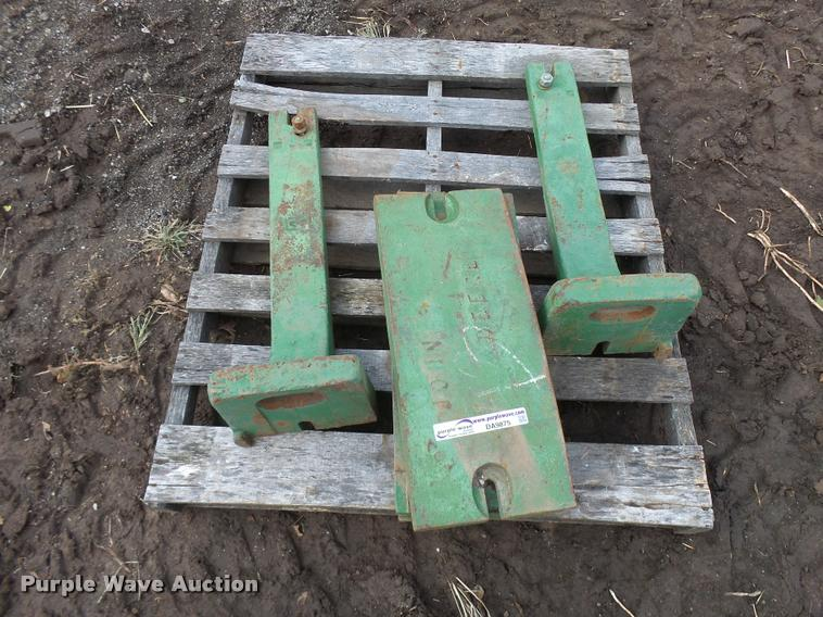 (4) John Deere suitcase weights