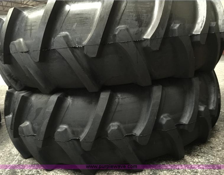 (2) 20.8-38-14 PR tractor tires