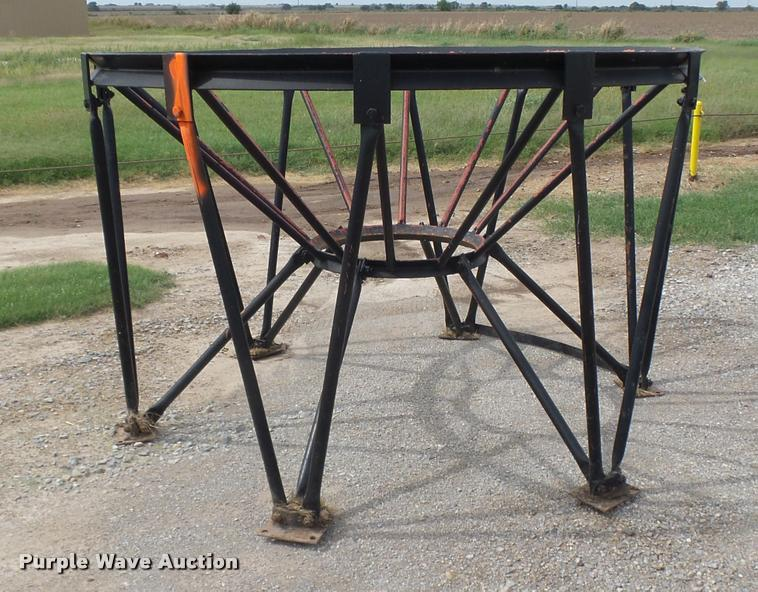 Steel cone shaped tank stand