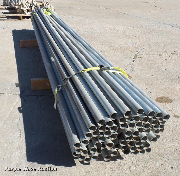 (90) chain link top rails