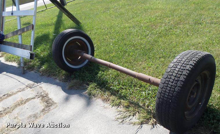 Axle and tires