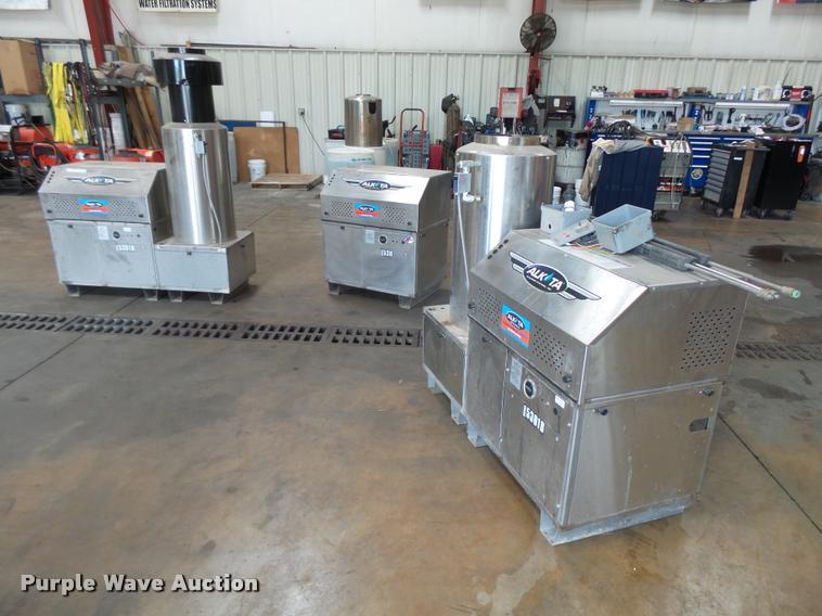 (3) Alkota high pressure washers