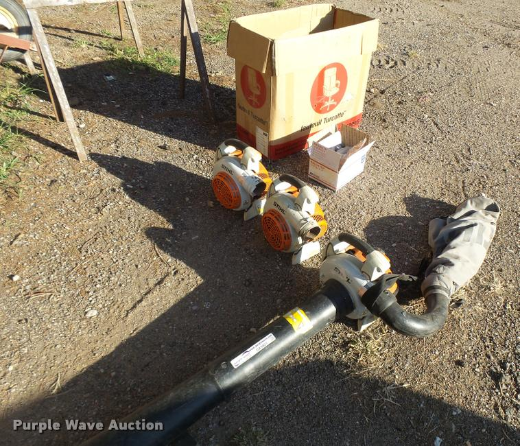 (3) Stihl SH86C blowers