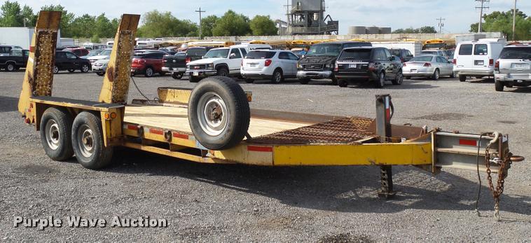 2001 Belshe WB12 equipment trailer