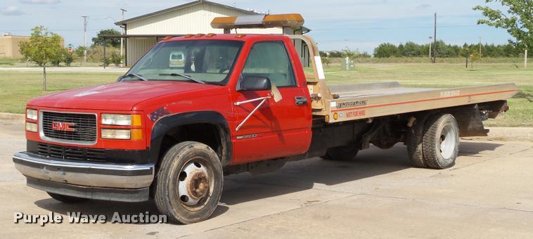 1998 GMC Sierra 3500HD SLE rollback truck