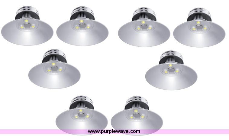 (8) LED high bay lights
