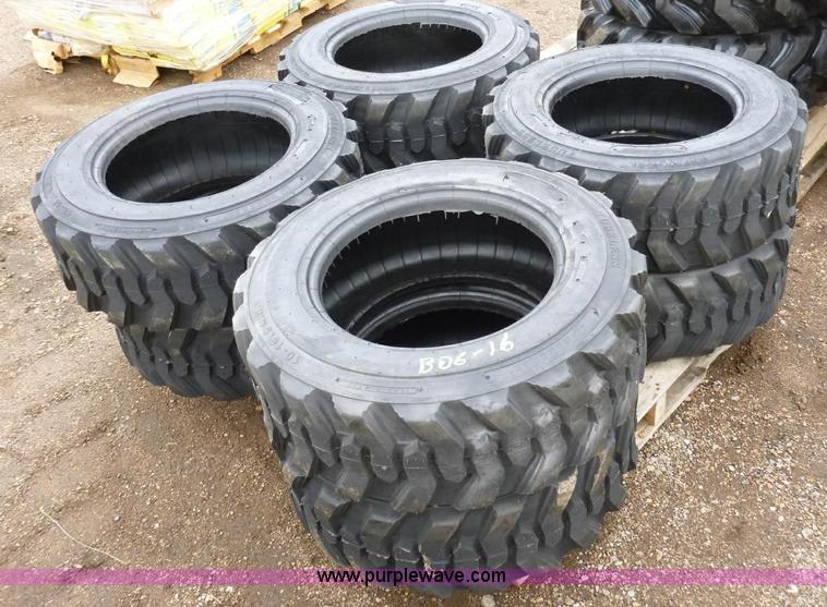 (4) 10x16.5 skid steer tires