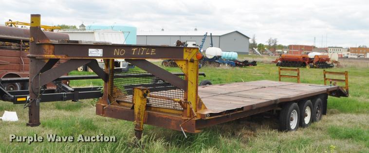 1980 shop built equipment trailer