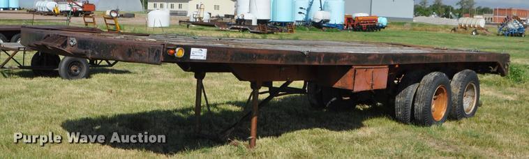 1965 Timpte MT10 flatbed trailer