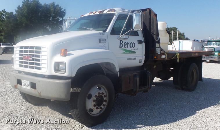 1998 GMC C6500 dump flatbed truck