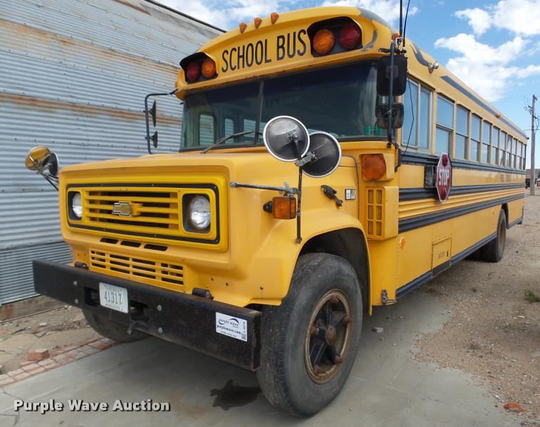 1987 Chevrolet Blue Bird 60 school bus