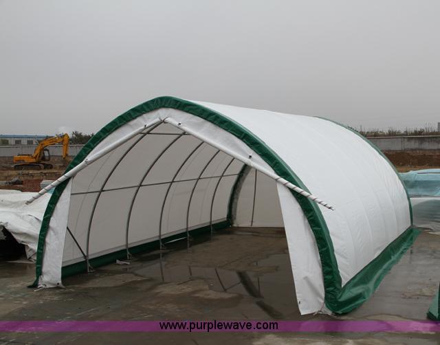 Canvas fabric storage building